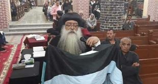 الانبا تكلا يترأس صلاة ليلة الخميس من البصخة المقدسة بدير الانبا بلامون